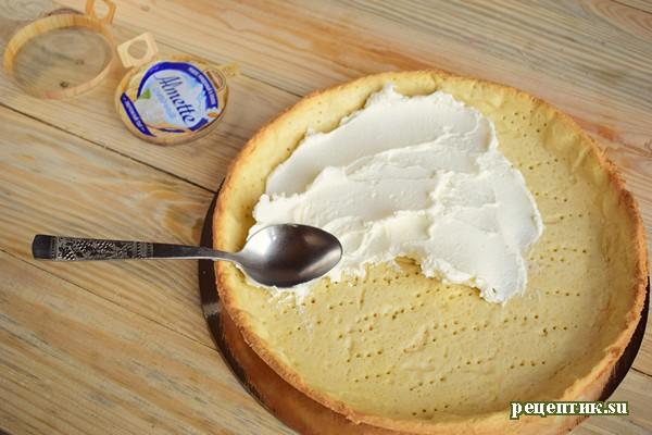 Пирог со свежей малиной и творожным сыром - рецепт с фото, шаг 12