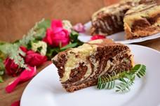 Мраморный пирог «Зебра» на кефире