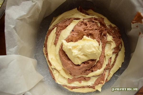 Мраморный пирог «Зебра» на кефире - рецепт с фото, шаг 8
