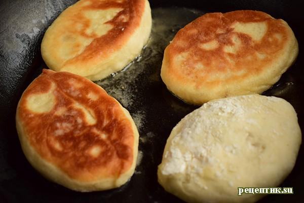 Пирожки жареные дрожжевые с абрикосами - рецепт с фото, шаг 10