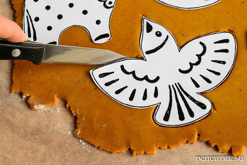 Простые расписные пряники-козули - рецепт с фото, шаг 6