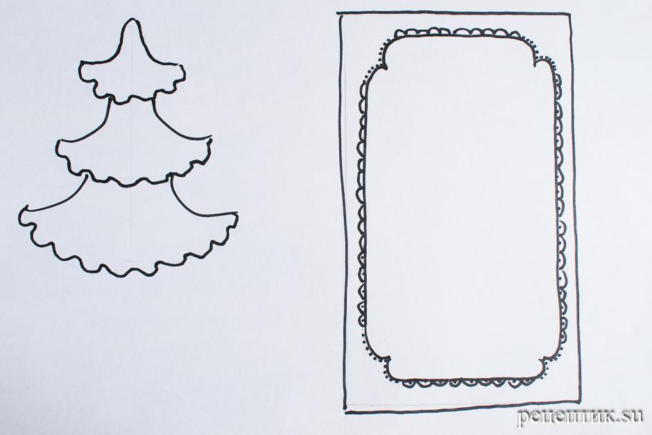 Пряничный домик простой (с шаблонами) - рецепт с фото, шаг 1