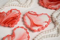 Рецепт мраморных пряников-сердечек