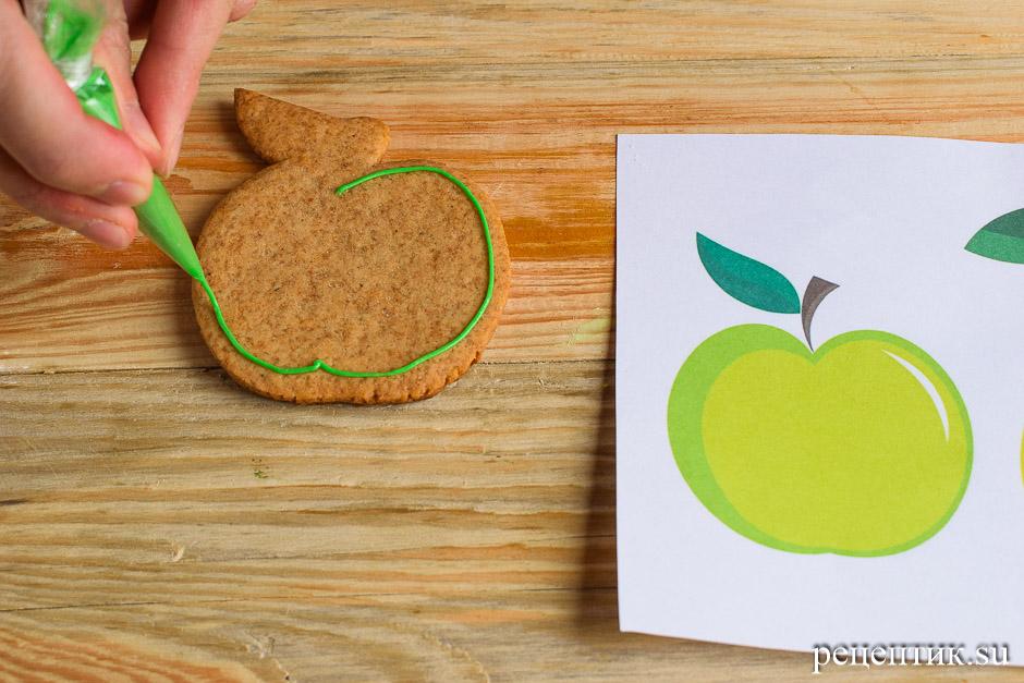 Расписные медовые пряники с цветной сахарно-белковой глазурью - рецепт с фото, шаг 10