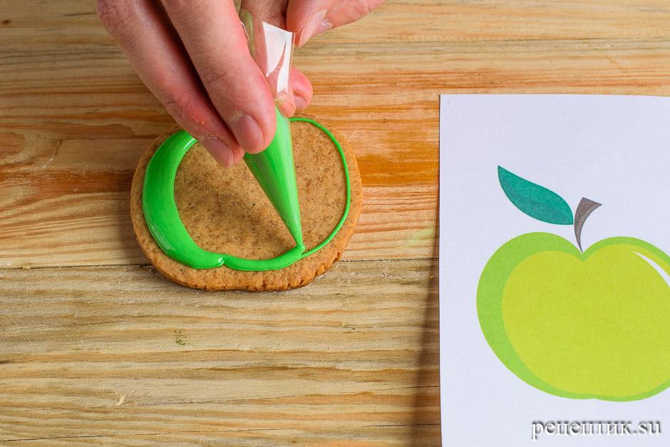 Расписные медовые пряники с цветной сахарно-белковой глазурью - рецепт с фото, шаг 11