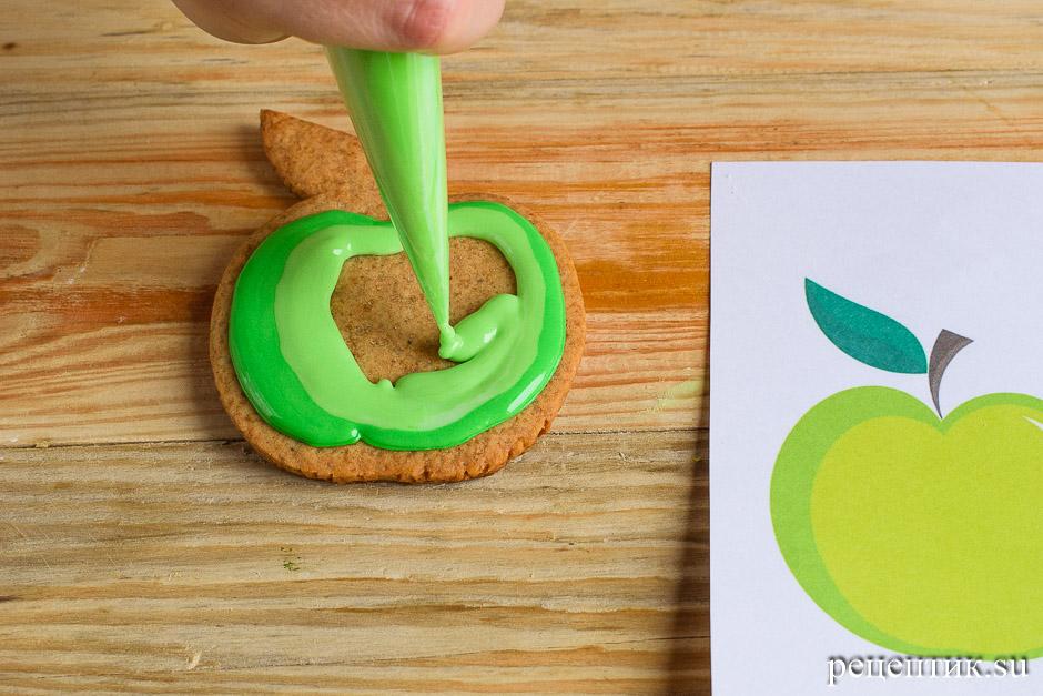 Расписные медовые пряники с цветной сахарно-белковой глазурью - рецепт с фото, шаг 12