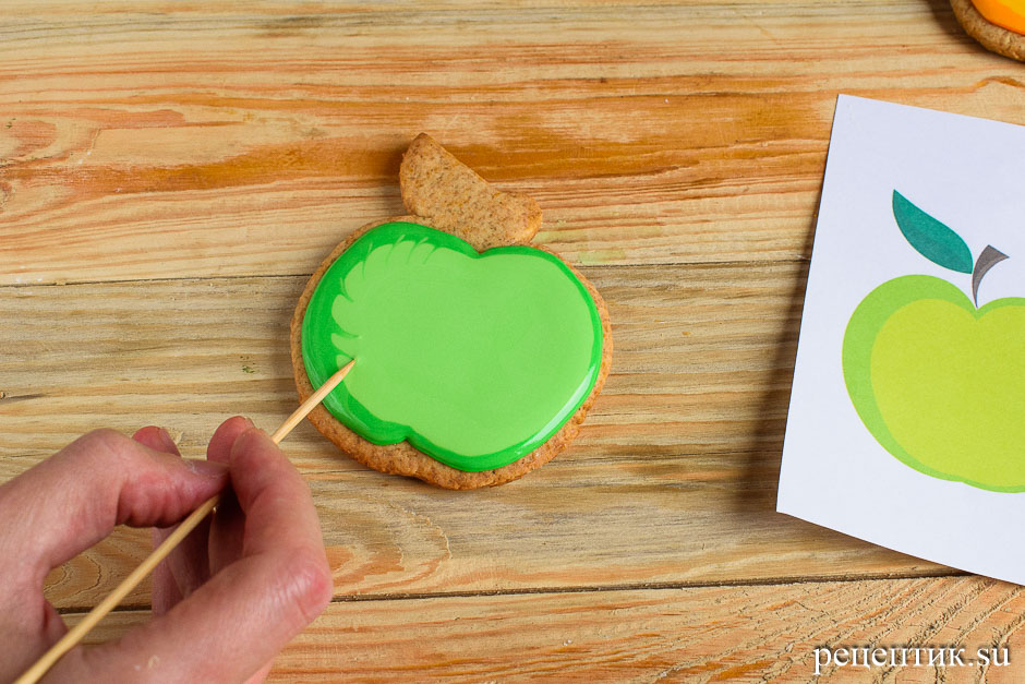Расписные медовые пряники с цветной сахарно-белковой глазурью - рецепт с фото, шаг 13