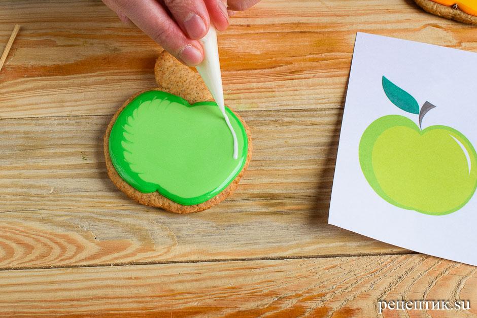 Расписные медовые пряники с цветной сахарно-белковой глазурью - рецепт с фото, шаг 14