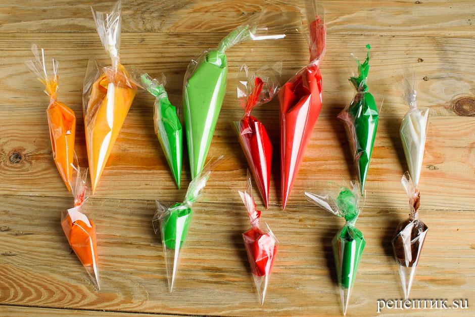 Расписные медовые пряники с цветной сахарно-белковой глазурью - рецепт с фото, шаг 9