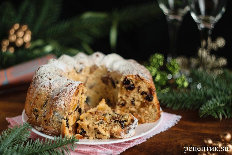 Английский рождественский кекс с сухофруктами - рецепт с фото