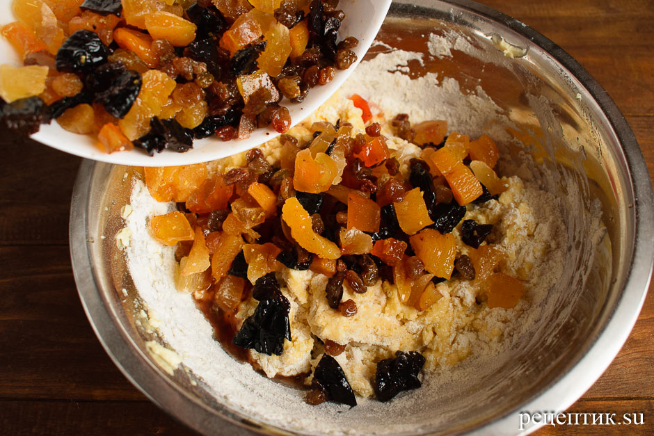 Английский рождественский кекс с сухофруктами - рецепт с фото, шаг 9