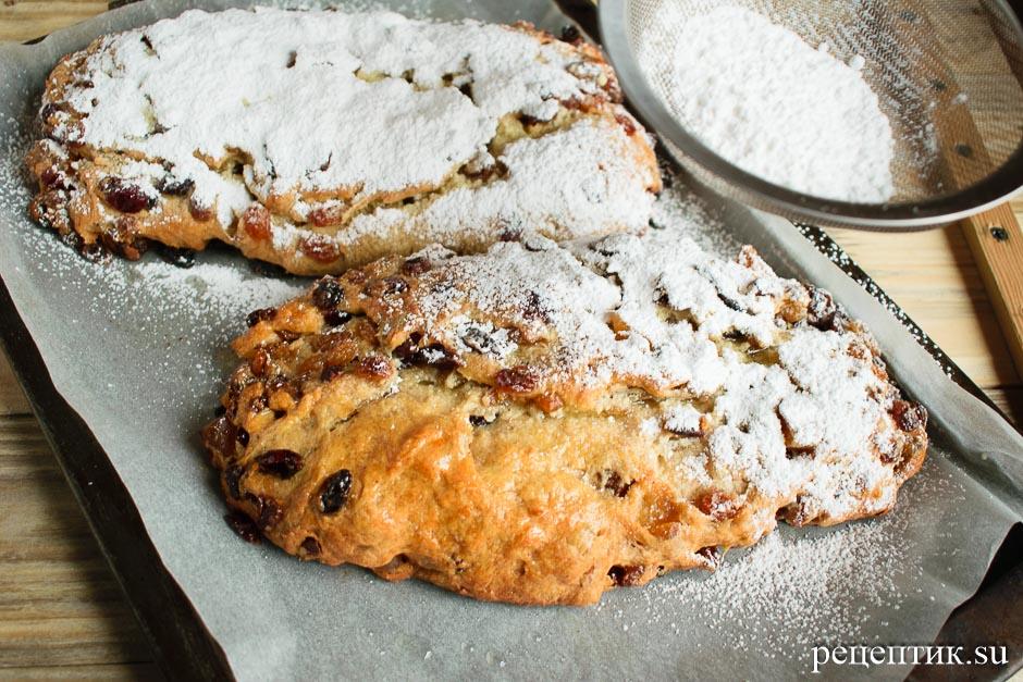 Рождественский штоллен – традиционный немецкий дрожжевой кекс - рецепт с фото, шаг 23