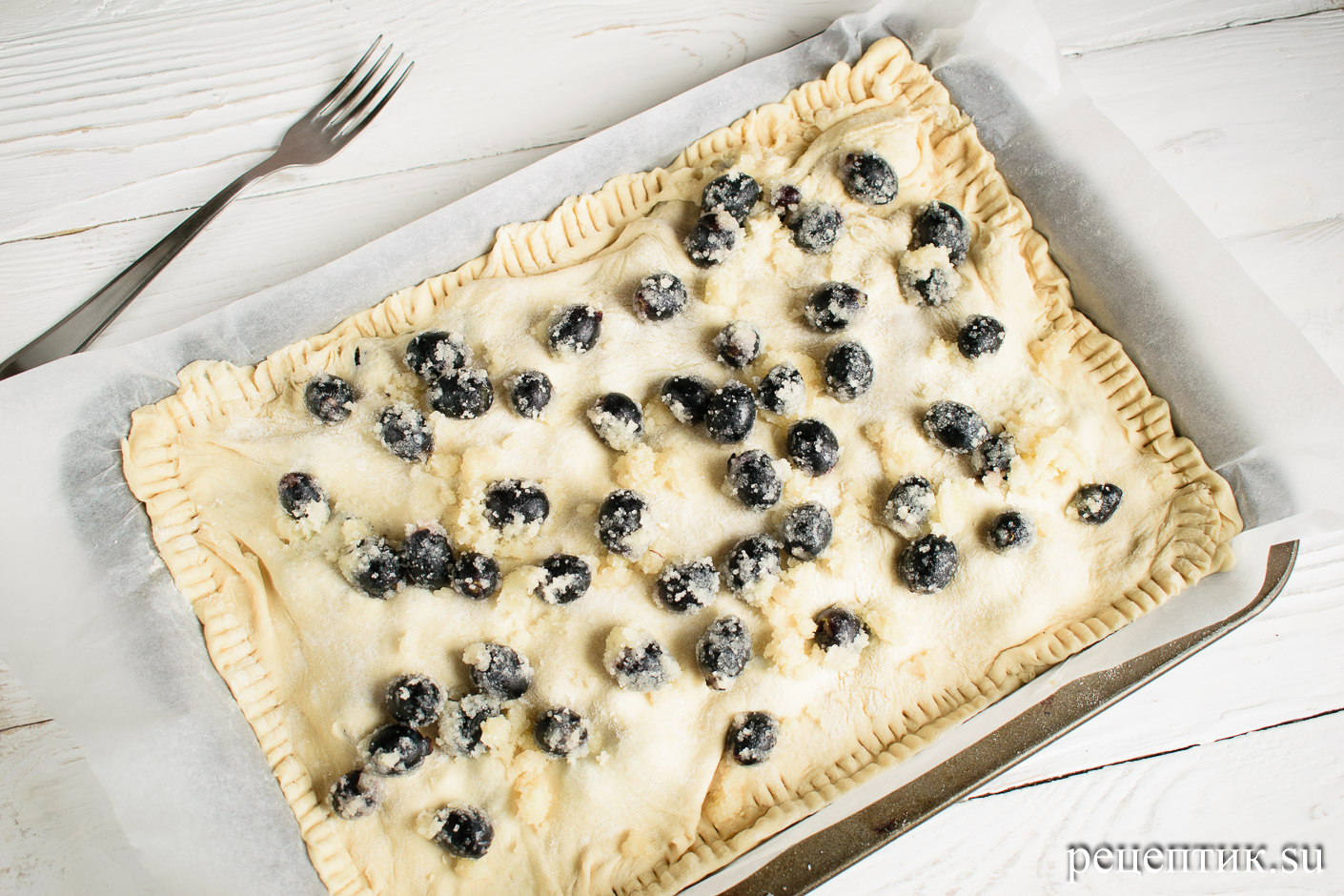Скьяччата с виноградом — традиционный тосканский пирог - рецепт с фото, шаг 7