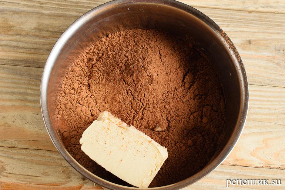 Простой шоколадный кекс с какао - рецепт с фото, шаг 1