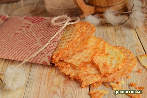 Сырные вафли - рецепт с фото