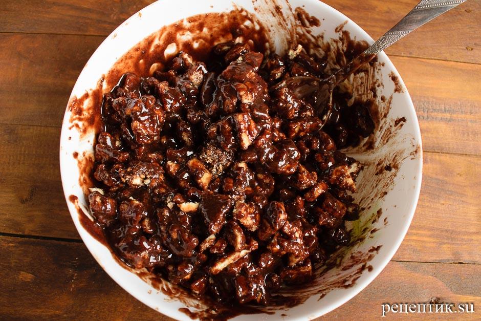 Сладкая шоколадная колбаска из печенья - рецепт с фото, шаг 7