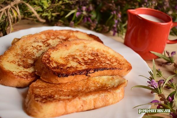Сладкие гренки из батона - рецепт с фото