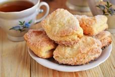 Рецепт слоеного творожного печенья в сахаре