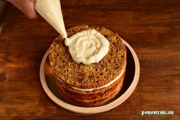 Тыквенный торт с изюмом и сливочным сыром - рецепт с фото, шаг 19