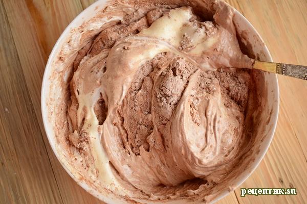 Бисквитный торт с заварным персиковым кремом - рецепт с фото, шаг 7