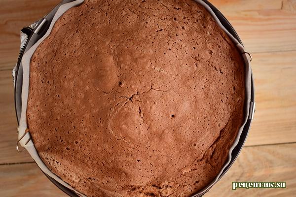 Бисквитный торт с заварным персиковым кремом - рецепт с фото, шаг 10