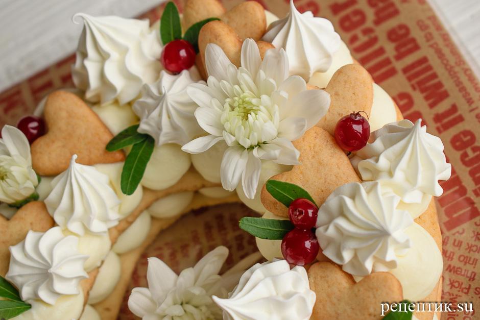 Нежный медовый торт «Сердце» с маскарпоне - рецепт с фото, шаг 16