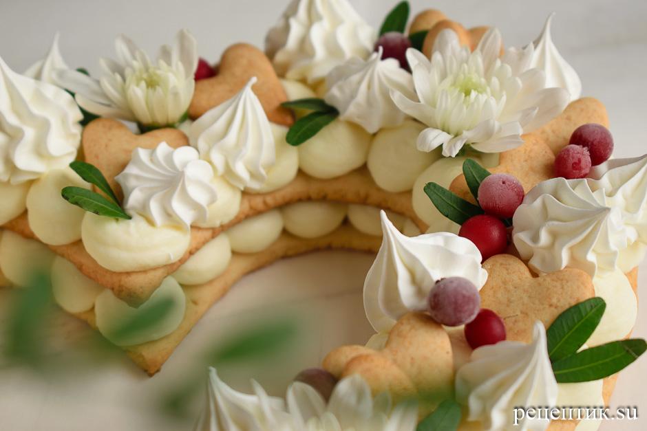 Нежный медовый торт «Сердце» с маскарпоне - рецепт с фото, шаг 18