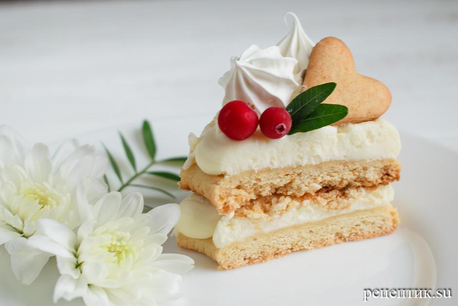 Нежный медовый торт «Сердце» с маскарпоне - рецепт с фото, результат