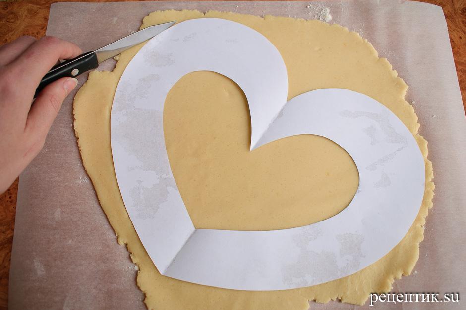 Нежный медовый торт «Сердце» с маскарпоне - рецепт с фото, шаг 5