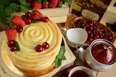 Торт «Спираль» из заварного теста