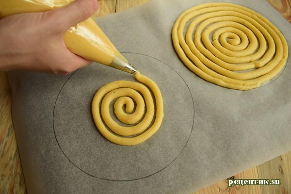 Торт «Спираль» из заварного теста - рецепт с фото, шаг 10
