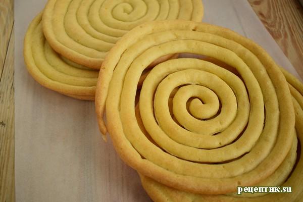 Торт «Спираль» из заварного теста - рецепт с фото, шаг 11