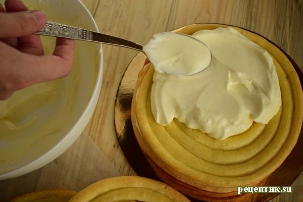Торт «Спираль» из заварного теста - рецепт с фото, шаг 14