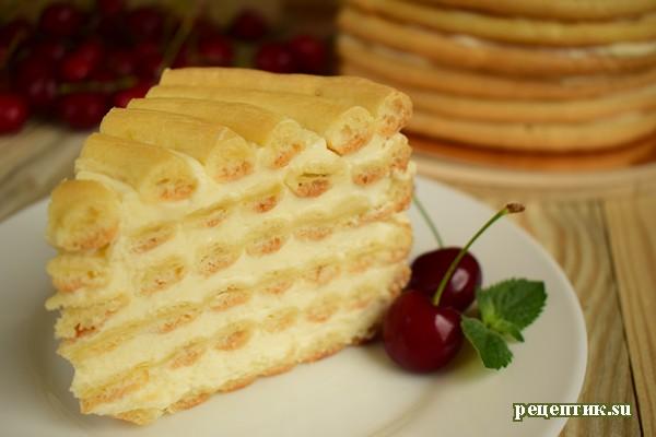 Торт «Спираль» из заварного теста - рецепт с фото, результат