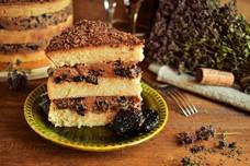 Рецепт винного торта с черносливом и шоколадом