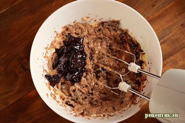 Винный торт с черносливом и шоколадом - рецепт с фото, шаг 13
