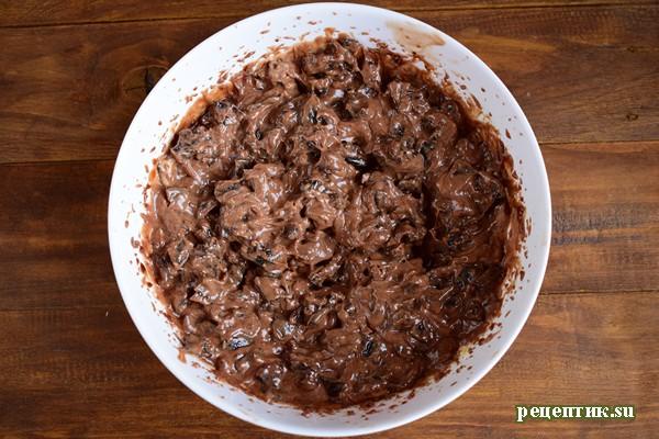 Винный торт с черносливом и шоколадом - рецепт с фото, шаг 14