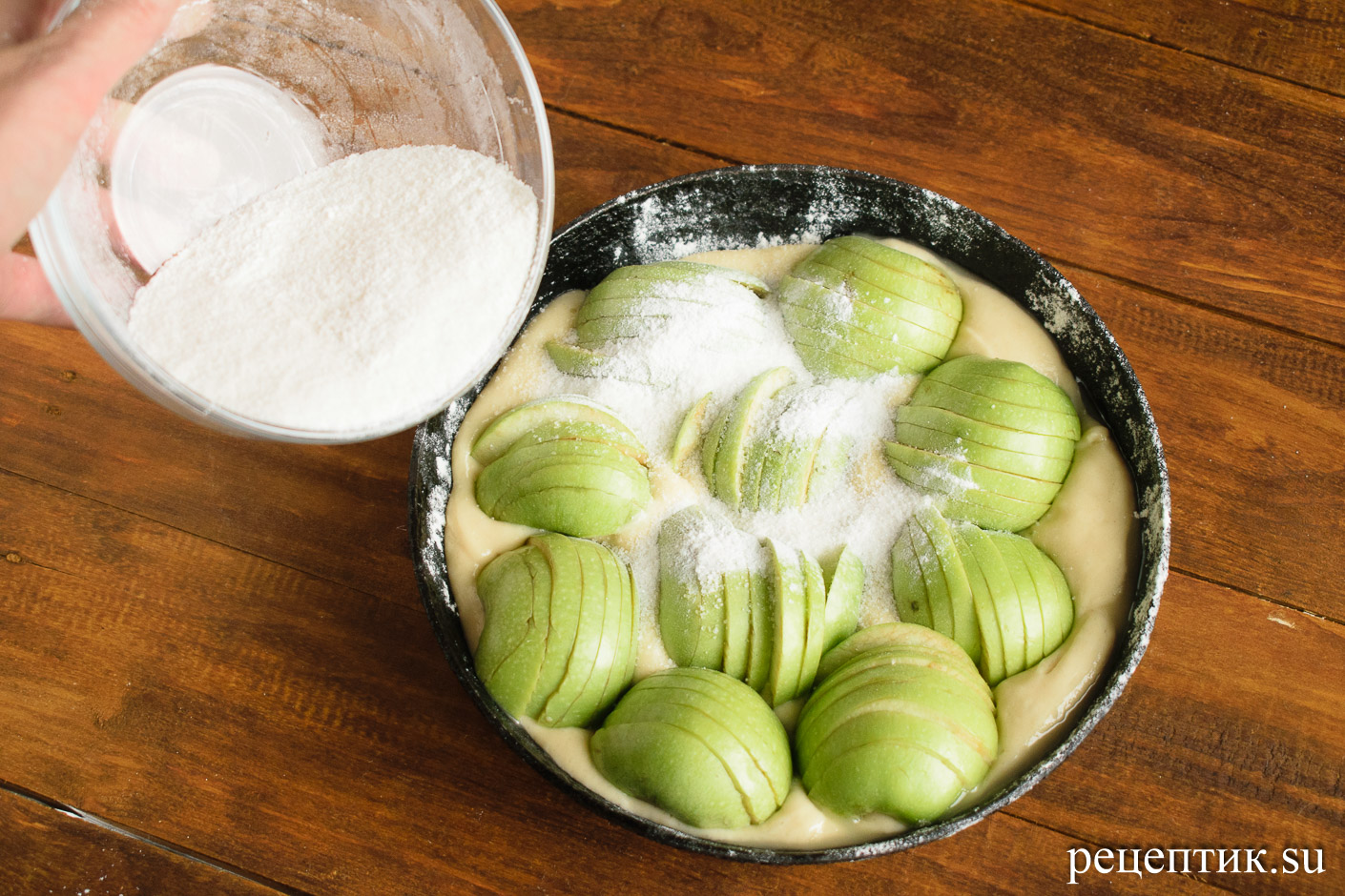 Яблочный кекс - рецепт с фото, шаг 6