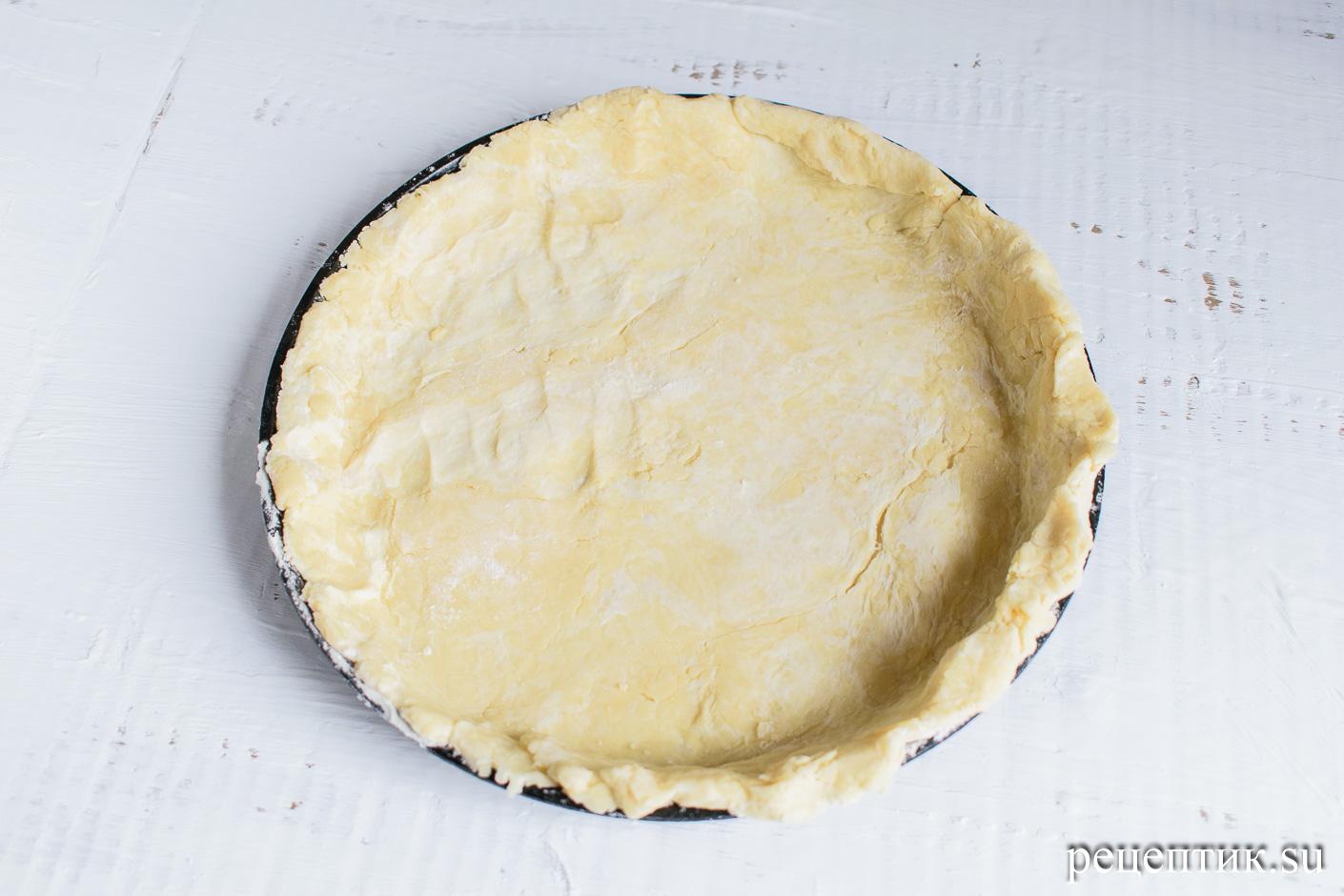 Яблочный пирог с решеткой из песочного теста - рецепт с фото, шаг 5