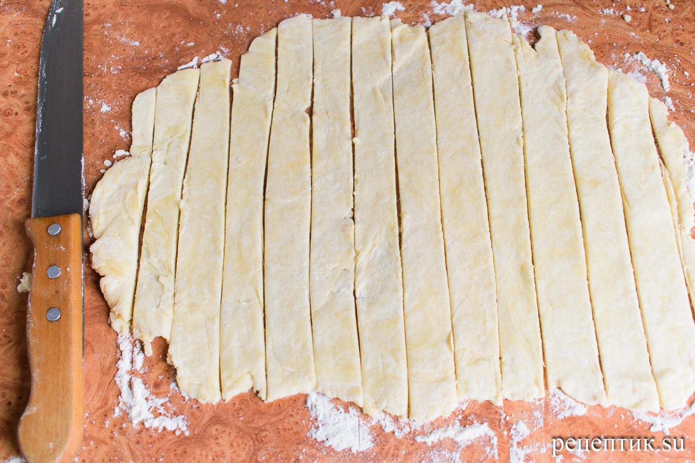 Яблочный пирог с решеткой из песочного теста - рецепт с фото, шаг 8